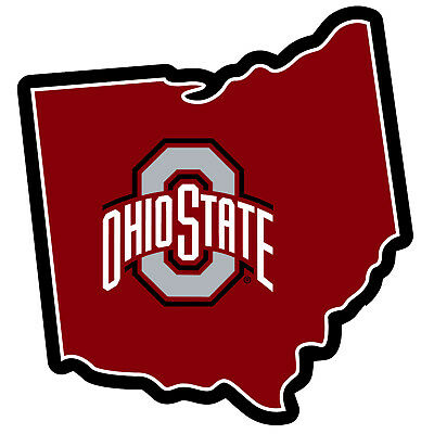 "NCAA Ohio State Buckeyes Home State Magnet 11"" Logo Car Vinyl Decal Sticker"