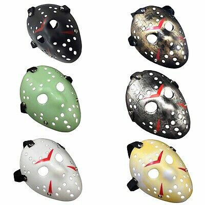 2x Halloween Mask Jason Voorhees Friday the 13th Horror Movie Hockey Mask AU