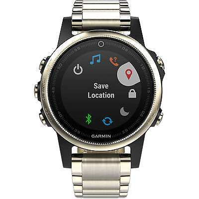 Garmin Fenix 5S Sapphire 42mm Champagne with Metal Band GPS Watch 010-01685-14