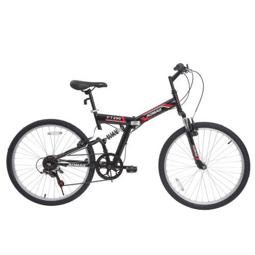 "26"" Folding Mountain Bicycles Foldable Hybrid Bike 7 Speeds"