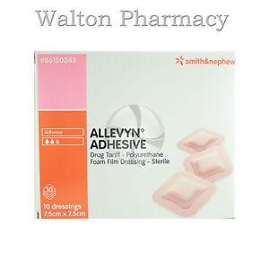 Allevyn-adhesive-7-5cm-x7-5cm-10-sterile-polyurethane-foam-film-dressing