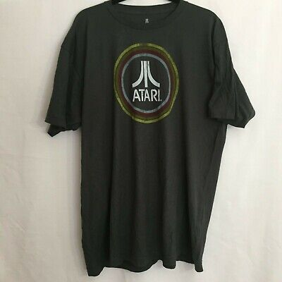 ATARI Video Game Ripple Junction Gray Graphic T-Shirt - Size XL
