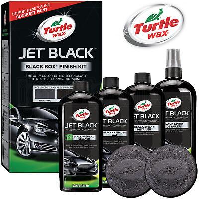 Turtle Wax Jet Black Box Dark Cars Detailing Paintwork Body Polish Restorer Kit