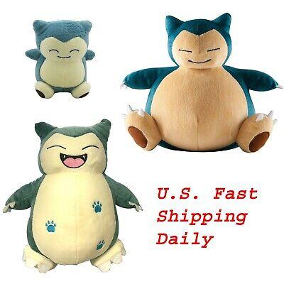 """Set 3 Pokemon Snorlax 6"""" Small and 10"""" Large Plush Doll Stuffed Animal Toy US"""