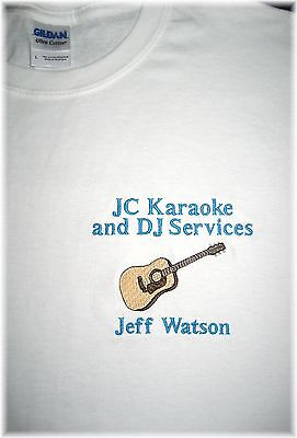 Personalized Electric or Acoustic GUITAR Music Business or Band Mens T Shirt