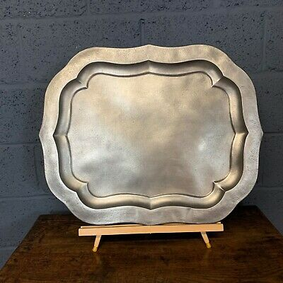 Superb stripped and polished 19th century toleware serving tray