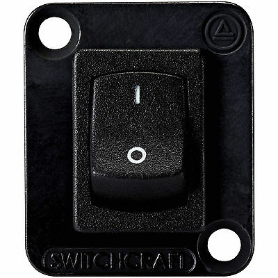 Switchcraft Ehrrslb Curved Rocker Switch Io Dpdt Black With