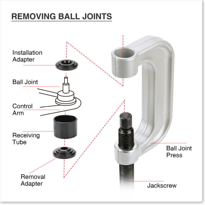 ::21pc Auto Ball Joint Press U Repair Removal Tool Installing Master Adapter 2&4WD