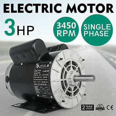 New 3 Hp 3450 Rpm Air Compressor 60 Hz Electric Motor 115-230 Volts Cm03256