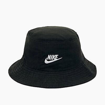 Nike Men's Sporstwear BUCKET Cap Washed Black/White CU6345-010 e