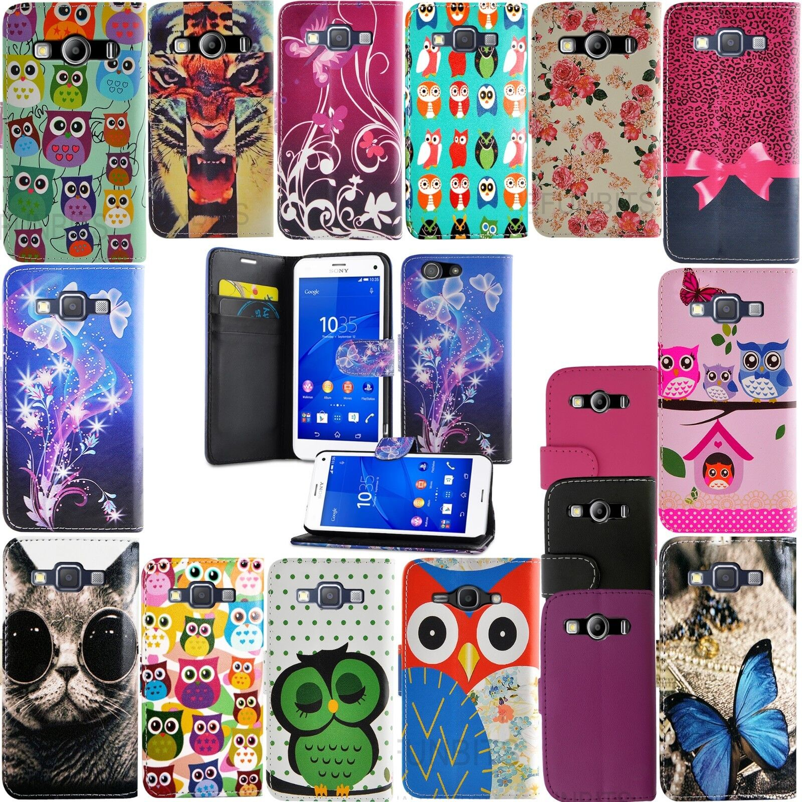 FOR SONY XPERIA E MORE WALLET BOOK FLIP PU LEATHER PROTECTION PHONE CASE COVER
