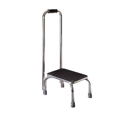 Duro-Med Step Stool with Handle, Silver and Black Medical St