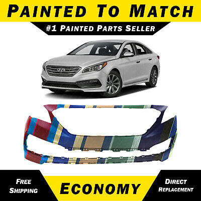 NEW Painted to Match Front Bumper Cover for 2015-2017 Hyundai Sonata Sport 15-17