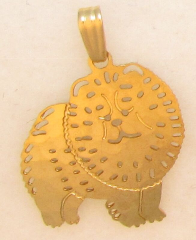 Chow  Chow Jewelry Small Gold Pendant by Touchstone
