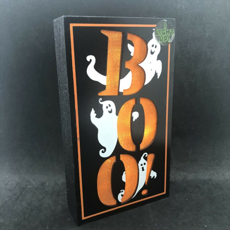 Halloween LED Light BOO Ghost Night Light Table Lamp Battery Operated