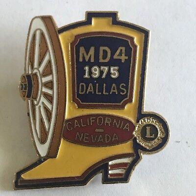 Older Lions Club International Pin MD 4 California Nevada- 1975 Dallas