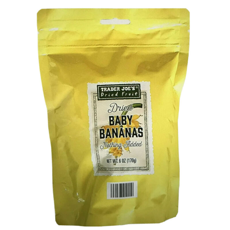 ❤️SUPER VALUE 6 PACK Trader Joe's DRIED BABY BANANAS  6 oz ea  Nothing Added