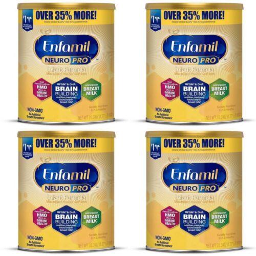 (4) Enfamil NEURO PRO Infant Formula with Iron Powder - 28.3oz