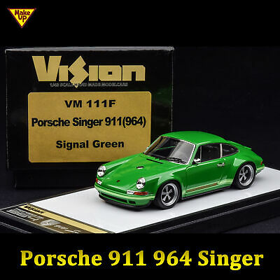 MAKE UP 1:43 Porsche Singer 911 964 Signal Green Resin Car Model Replica VM111F
