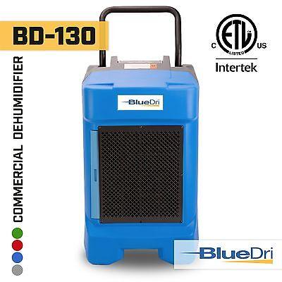 BlueDri BD-130P 225PPD High Performance Industrial Commercial Dehumidifier Blue