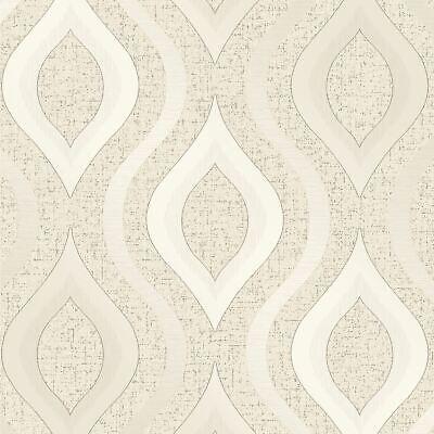 Cuarzo Papel Pintado Geométrico Oro - Fine Decor FD41973 Purpurina de Lujo