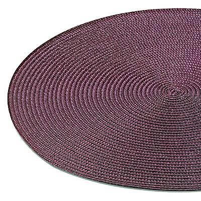 Tischset DOT Platzmatte BORDEAUX rund ca. 38 cm ø Polypropylen weinrot NEU