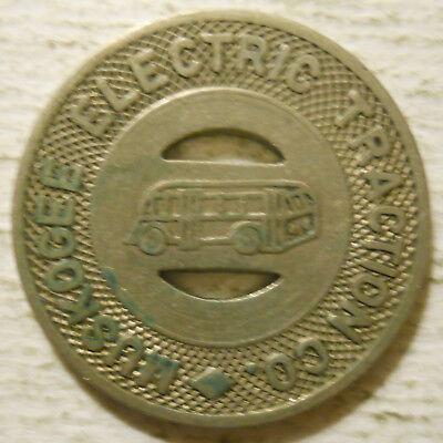 Muskogee Electric Traction Company (Oklahoma) transit token - OK590C