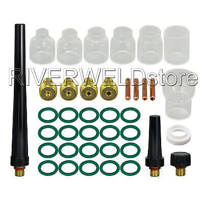 Tig Gas Lens Collet Body Pyrex Cup Kit Db Sr Wp 9 20 25 Tig Welding Torch 39pcs