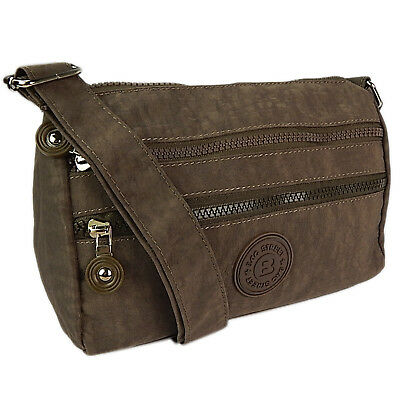 Kleine Süße Umhängetasche Schultertasche Damen Tasche City Reisetasche Braun 0