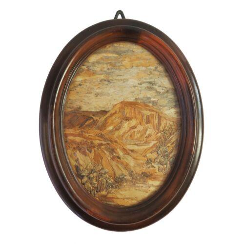 Vintage+Handmade+Tree+Bark+Wood+Image+Art%2C+Australian+Outback+Scene