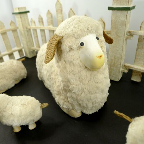 Sheep And Lambs Decorative Cotton Figurines Crafting