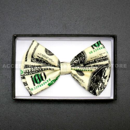 Money Design Tuxedo Classic Bowtie Neckwear Unisex Pre-tied Bow Tie Costume