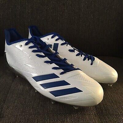 Adidas Adizero 5-Star 6.0 Football Cleats White Metallic Chrome BW1461 Size 13