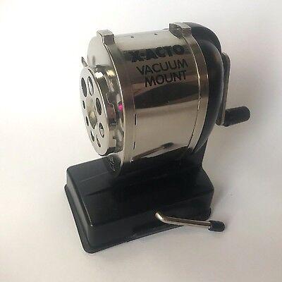 X-acto Manual Pencil Sharpener - Vacuum Mount - Silver Black