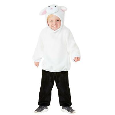 Toddler Nativity Costumes (Toddler Cute Lamb Christmas Nativity Play Sheep Animal Kids Fancy Dress)