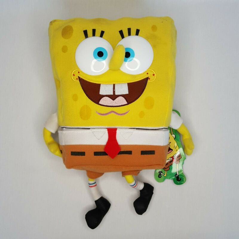 Vintage SpongeBob Plush Krabby Patty Nickelodeon 2000 w/ Removable Pants & Tag