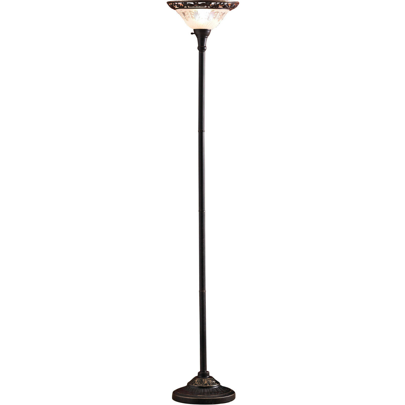 victorian floor lamp 70 etched glass shade