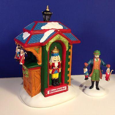 Dept 56 Alpine Village CHRISTMAS MARKET THE NUTCRACKER BOOTH Set of 2 NEW! w/box