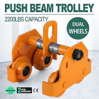 1 Ton Steel I-beam Push Beam Track Roller Trolley For Overhead Garage -hoist