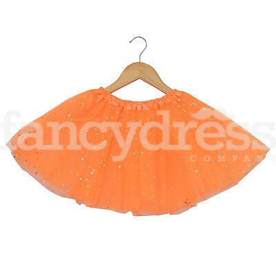 Orange Star Sequin Ballet Dress Costume Kids Halloween Pumpkin Tutu Skirt - Halloween Ballet Pumpkin