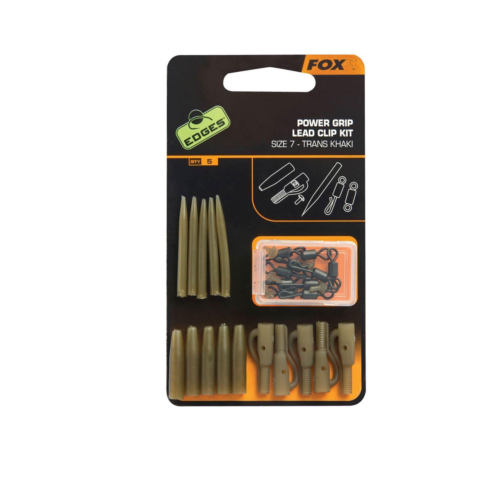 Fox Edges Karpfenangeln Zubehör Set - Surefit Lead Clip 5Stk Kit