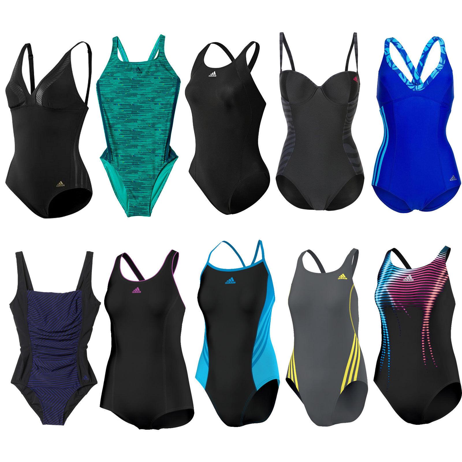 adidas Performance Damen-Badeanzug Schwimmanzug Bademode Swimsuit Einteiler