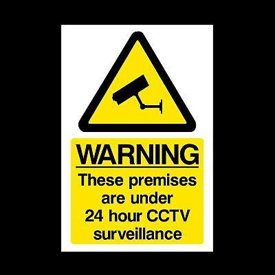 CCTV 24 Hour Surveillance A5 Rigid Plastic Sign 150x210mm