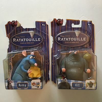Disney Pixar RATATOUILLE Set of 2 Action Figures - REMY & GIT - NEW