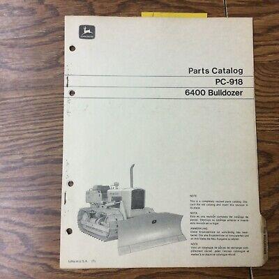 John Deere Jd 6400 Bulldozer Parts Manual Catalog Book List Tractor Guide Pc-918
