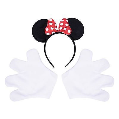 Ladies Mouse Halloween Fancy Dress Costume Kit. Stag Party Outfit Gloves, Ears