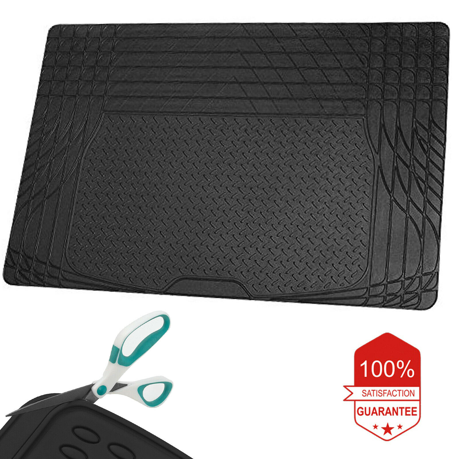Car Parts - Universal Car Boot Mat Rubber Liner Protector Non Slip Large Lightweight