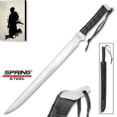 (High Carbon Spring Steel Short Sword Ninja Ronin Katana Wakizashi Sharp machete)