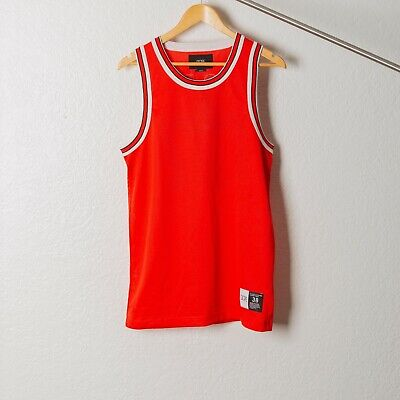 DOPE LOGO MENS BASKETBALL RED JERSEY BEST SELLER LAST ONE DISCOUNT SIZE (Best Red Basketball Jersey)