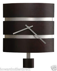 Howard Miller 625-404 Morrison - Contemporary Wall Clock in black Coffee Finish